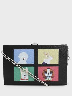 Style Fiesta Pet Face Print Sling Bag