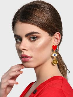 Style Fiesta Evil Eye Statement Earrings