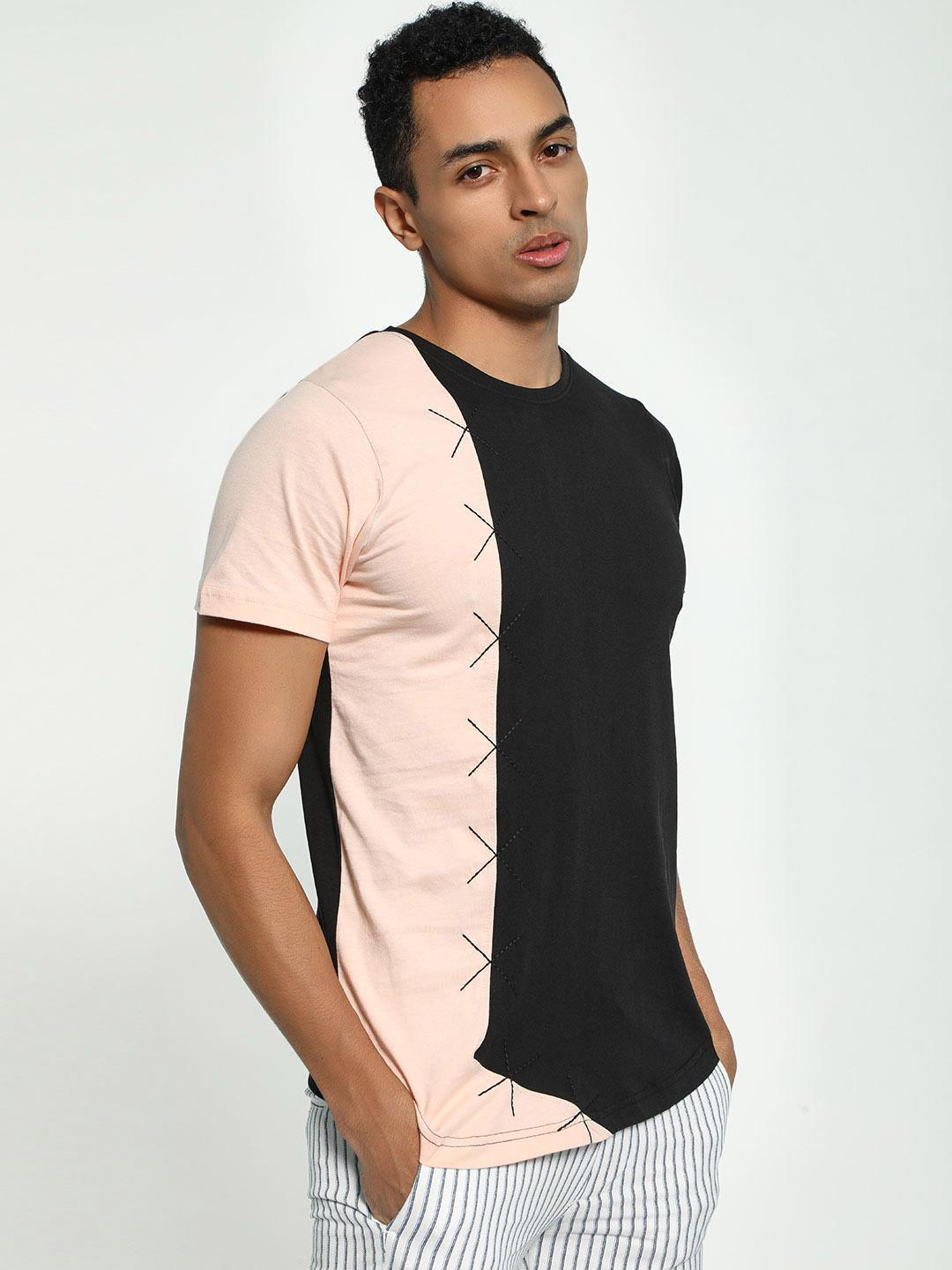 Kultprit Multi Colour Block Cut And Sew T-Shirt 1