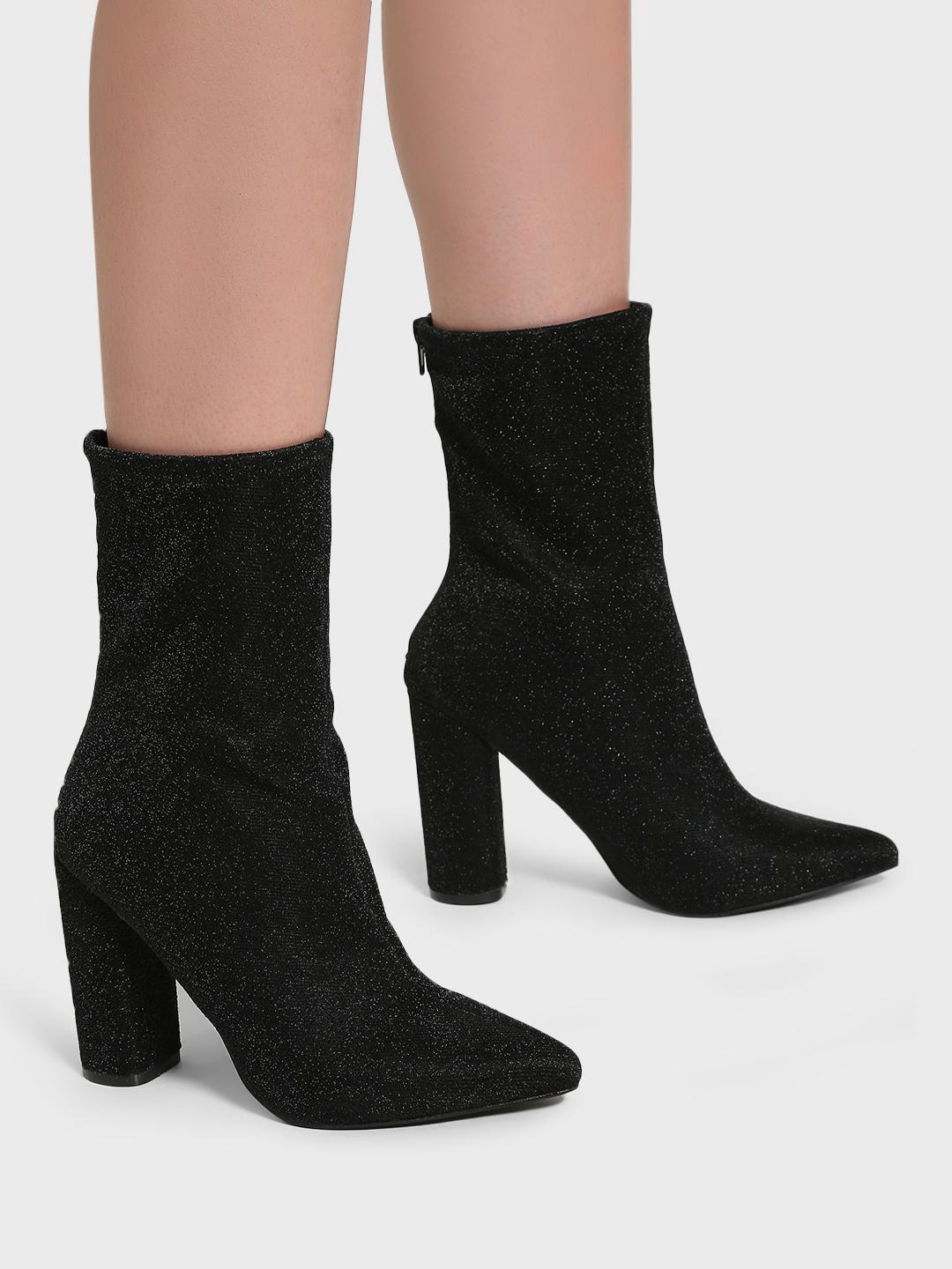 Intoto Black Shimmer Calf-Length Boots 1