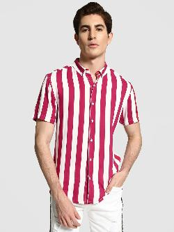 TRUE RUG Macro Vertical Stripe Shirt