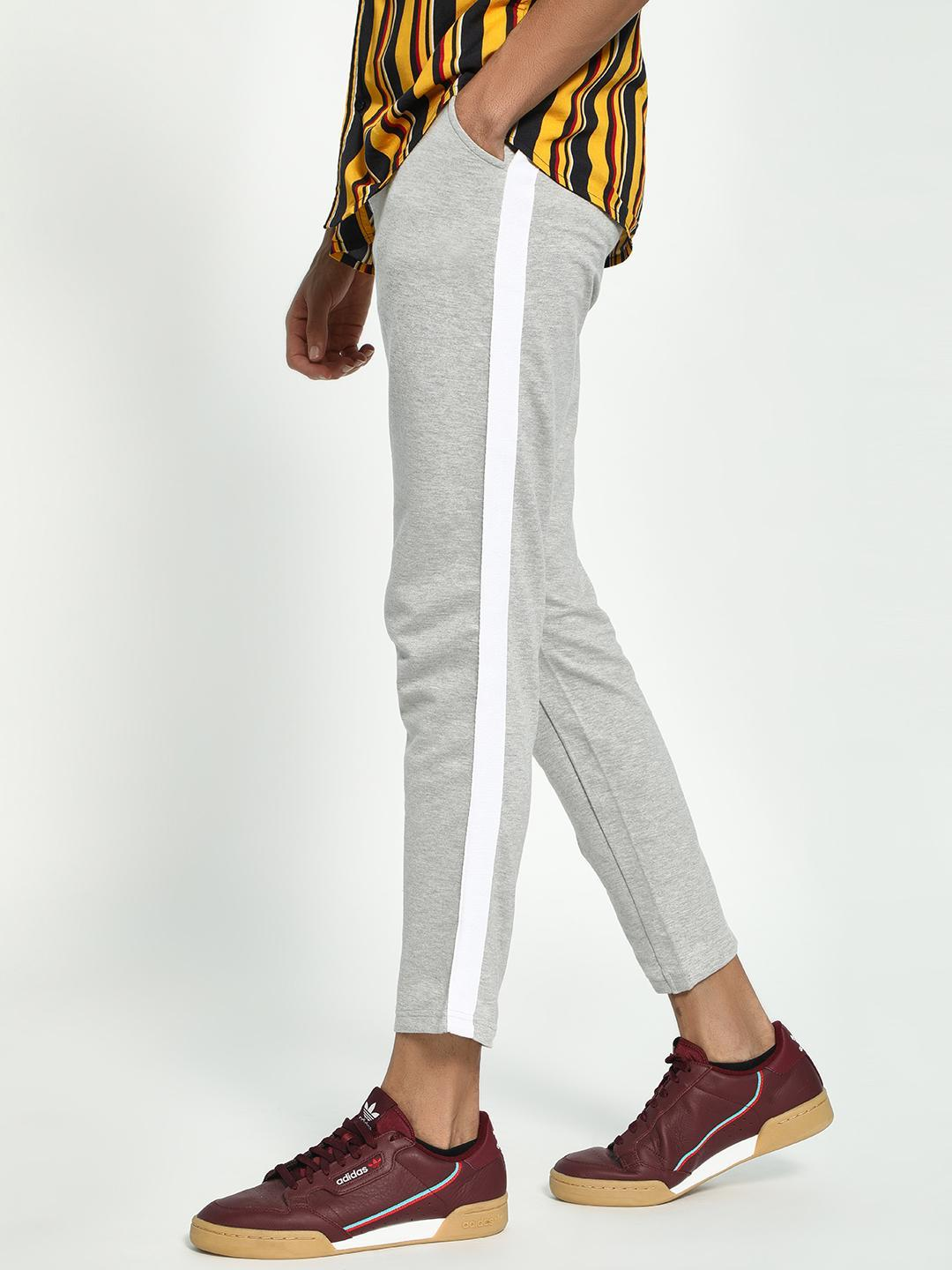 Garcon Grey Knitted Side Tape Trousers 1