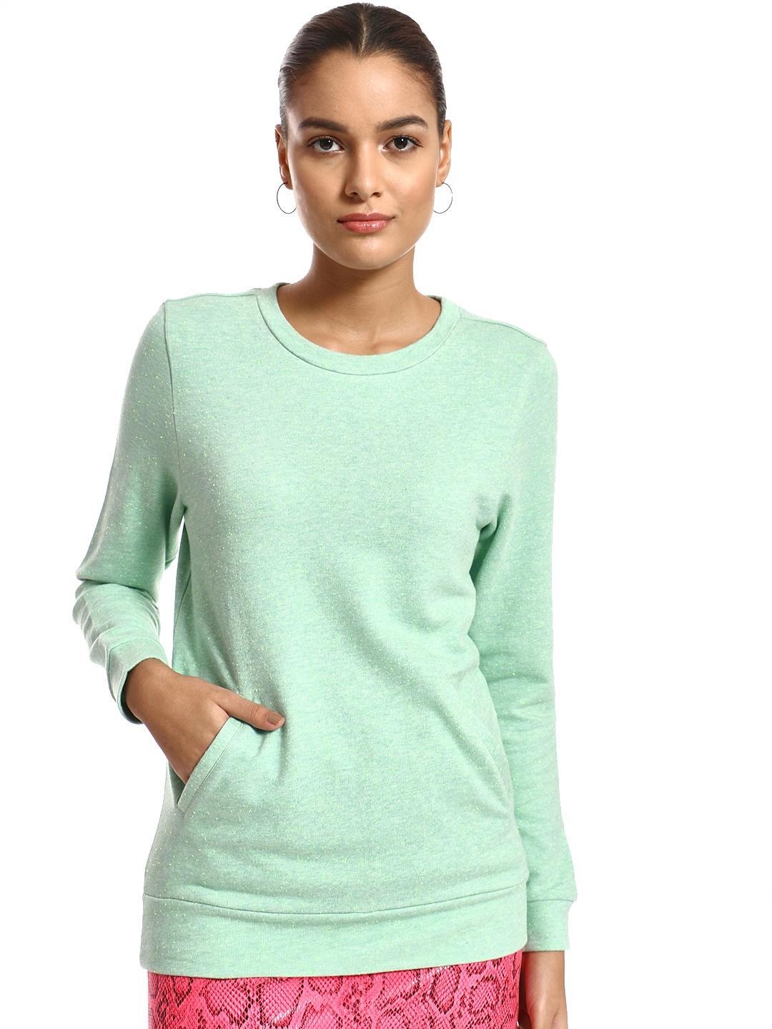 PostFold Green Kangaroo Pocket Knitted Sweatshirt 1
