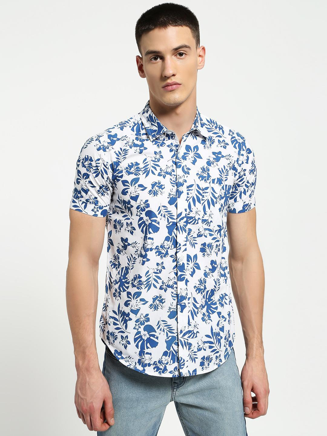 Lazy Panda Multi Floral Leaf Print Shirt 1