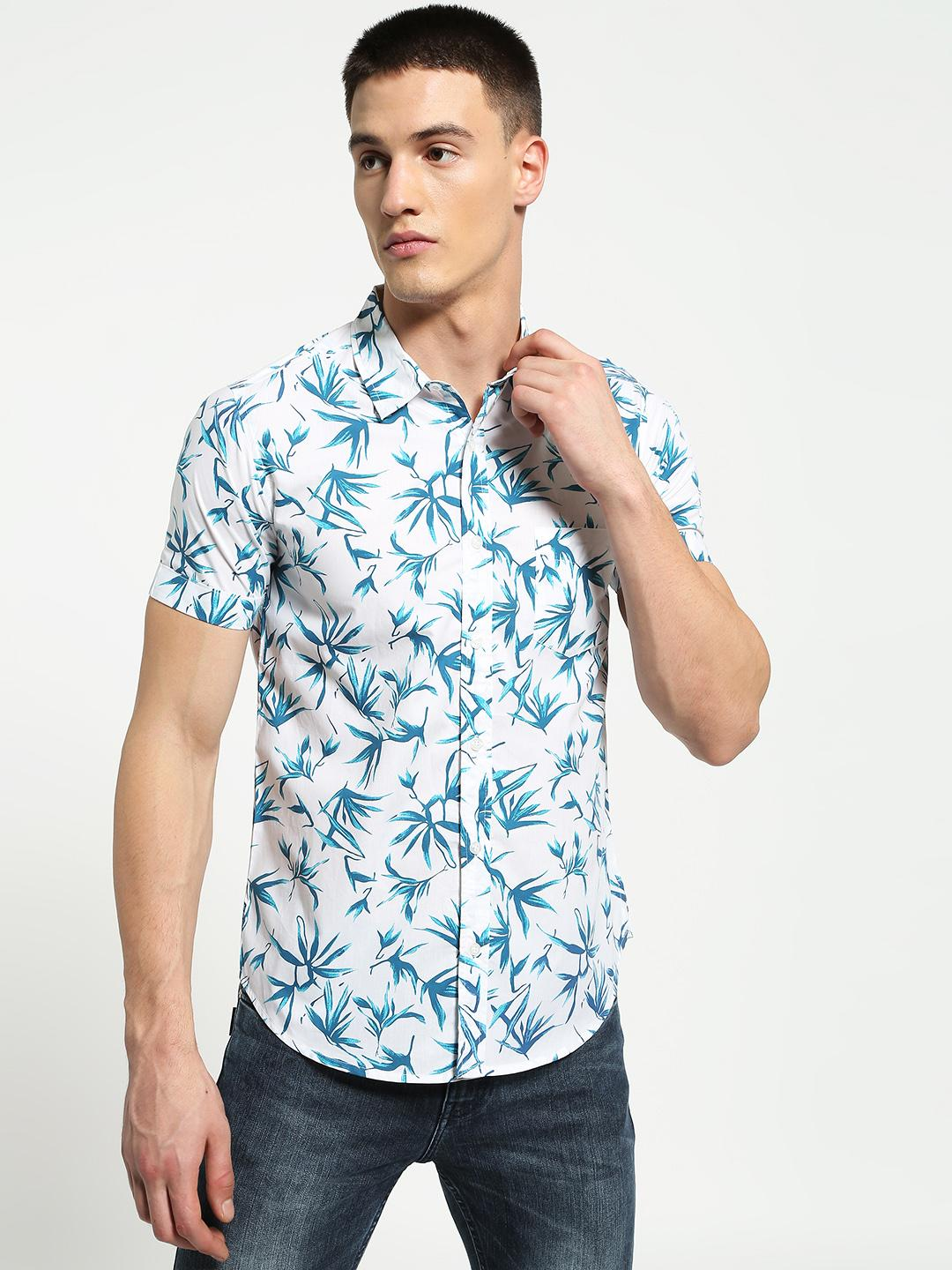 Lazy Panda Multi Tropical Leaf Print Shirt 1