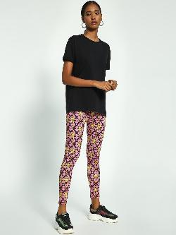 KOOVS Chain Baroque Print Leggings