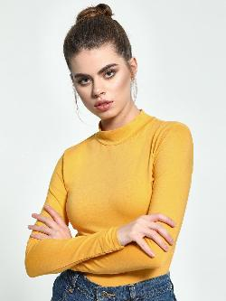 KOOVS Basic High Neck Bodysuit