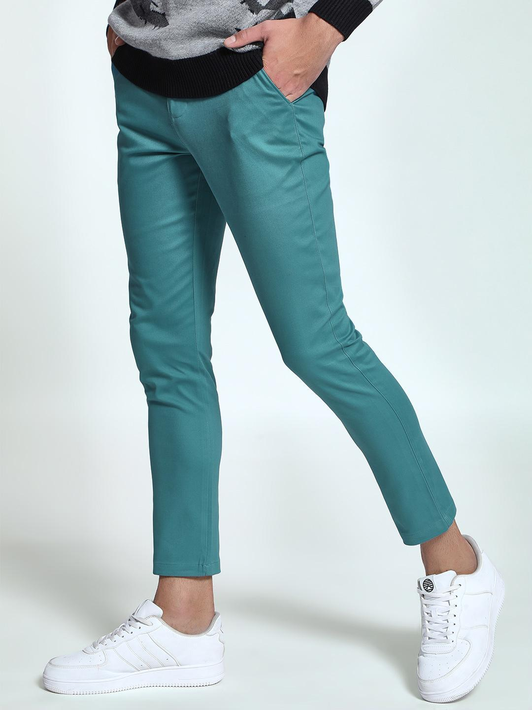 KOOVS Green Basic Skinny Fit Chinos 1