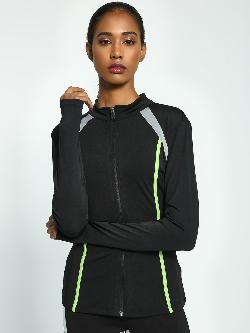 K ACTIVE KOOVS Panelled Funnel Neck Jacket