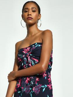 Ri-Dress Tropical Floral Print Bandeau Top