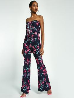 Ri-Dress Tropical Floral Print Flared Pants