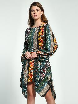 Ri-Dress Floral Paisley Print Asymmetric Dress