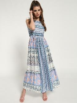 Kisscoast Mixed Print Sleeveless Maxi Dress
