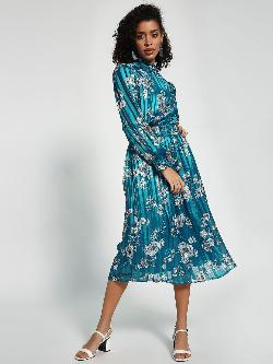 Closet Drama Floral Print Satin Midi Dress