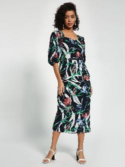 Closet Drama Floral Print Midi Dress