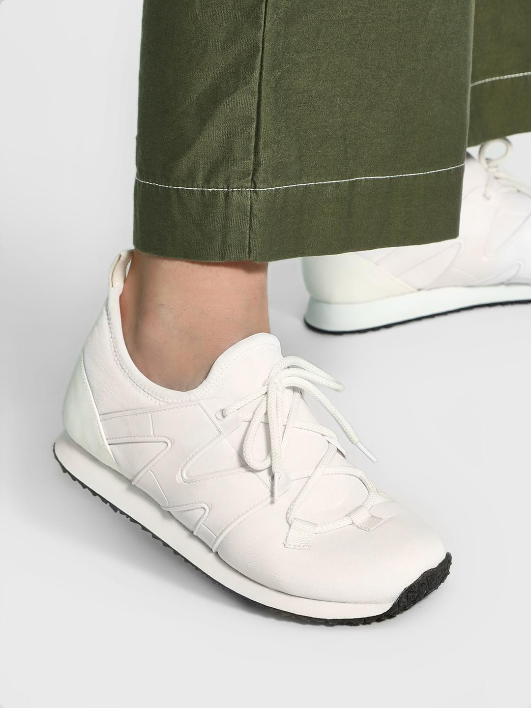KOOVS White Panelled Running Shoes 1