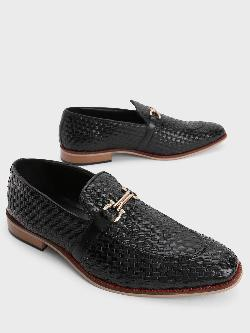 Bolt Of The Good Stuff Basket Weave Horsebit Loafers