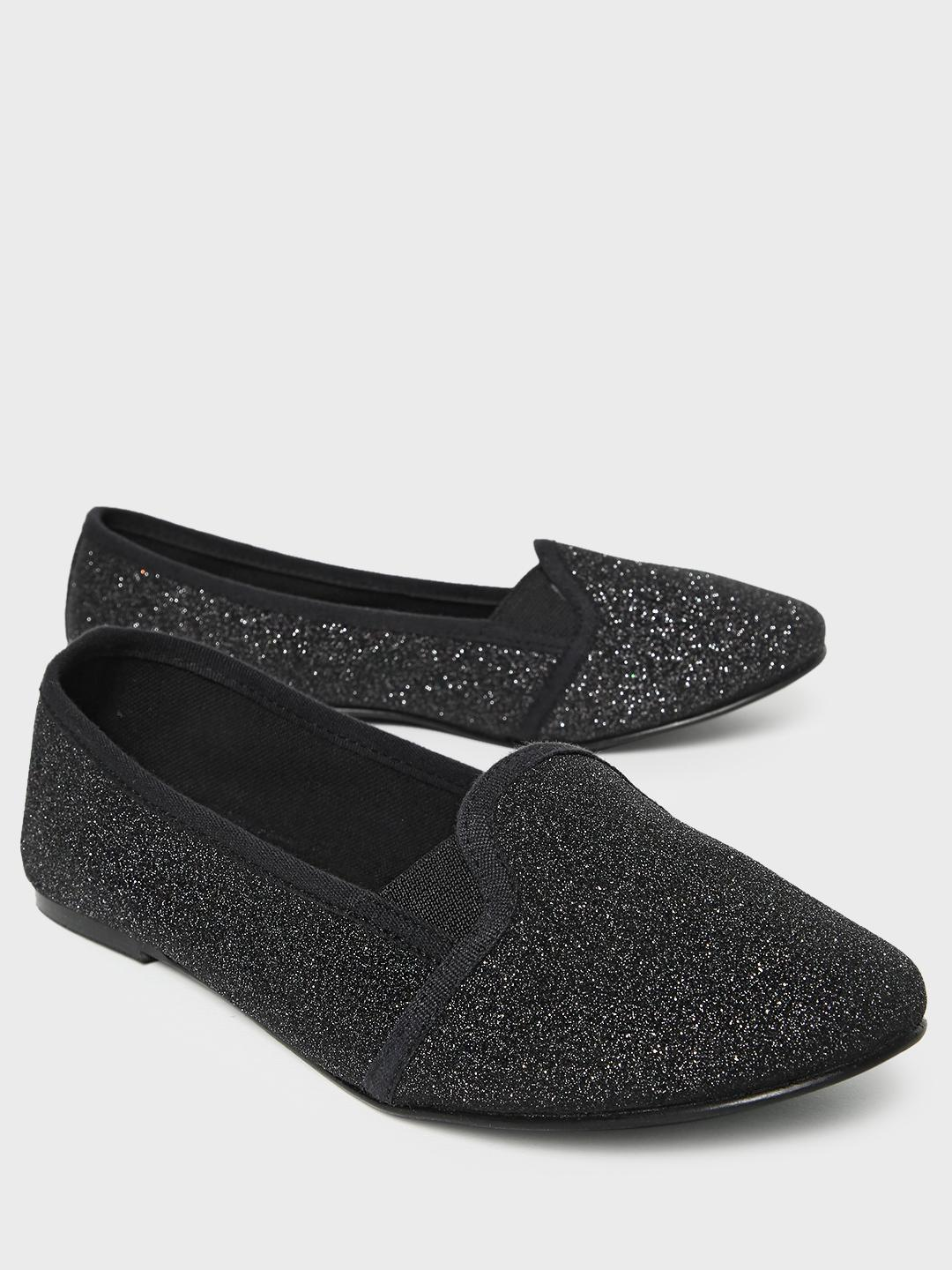 KOOVS Black All Over Glitter Ballerinas 1