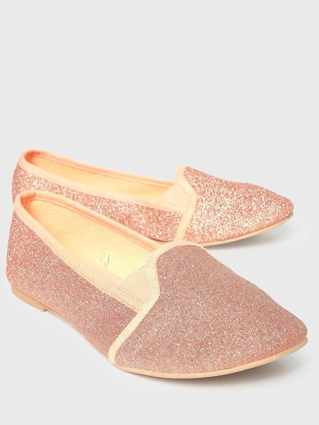 KOOVS Pink All Over Glitter Ballerinas 1