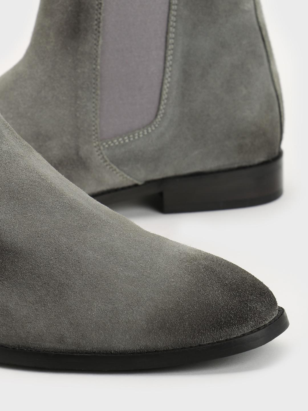 Buy Griffin Grey Suede Chelsea Boots