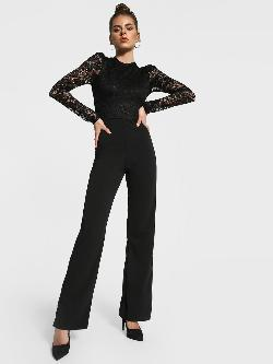 Missguided Crochet Lace Wide Leg Jumpsuit