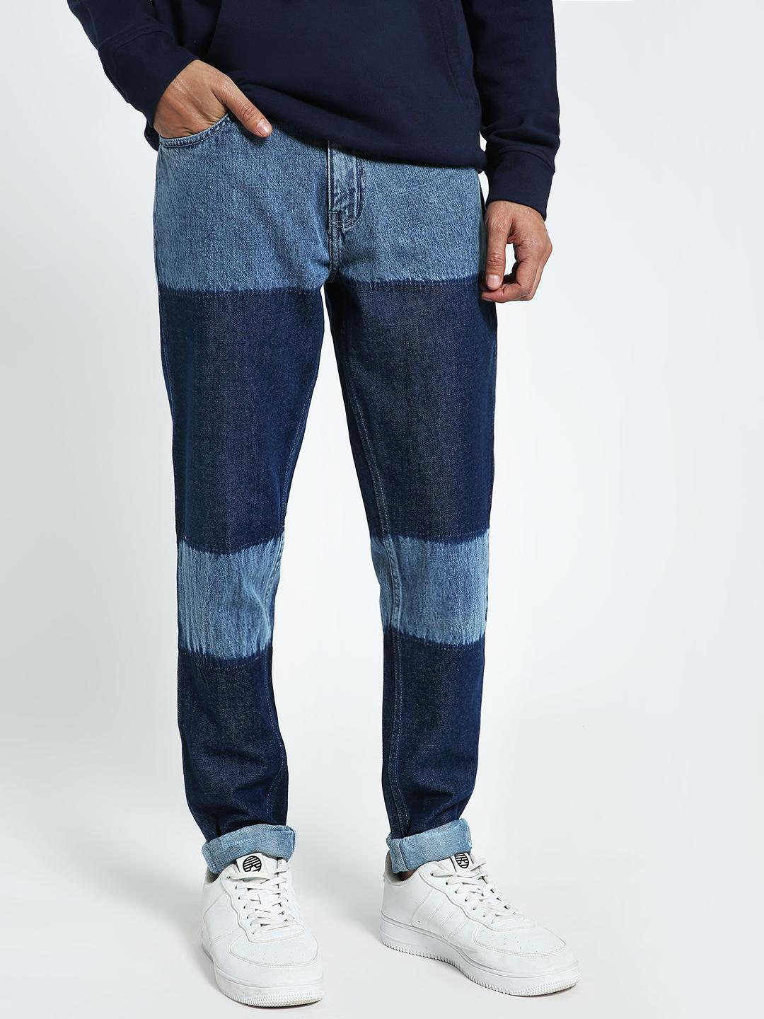 CHELSEA KING Blue Colour Block Washed Slim Jeans 1