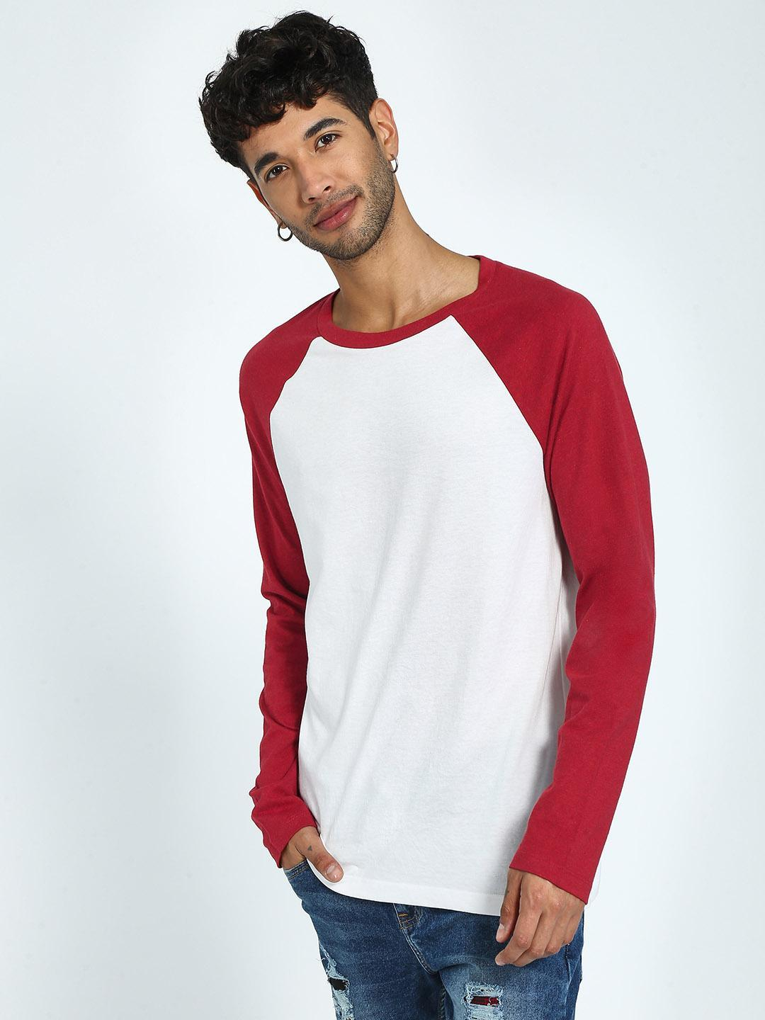 CHELSEA KING Multi Contrast Raglan Long Sleeve T-Shirt 1