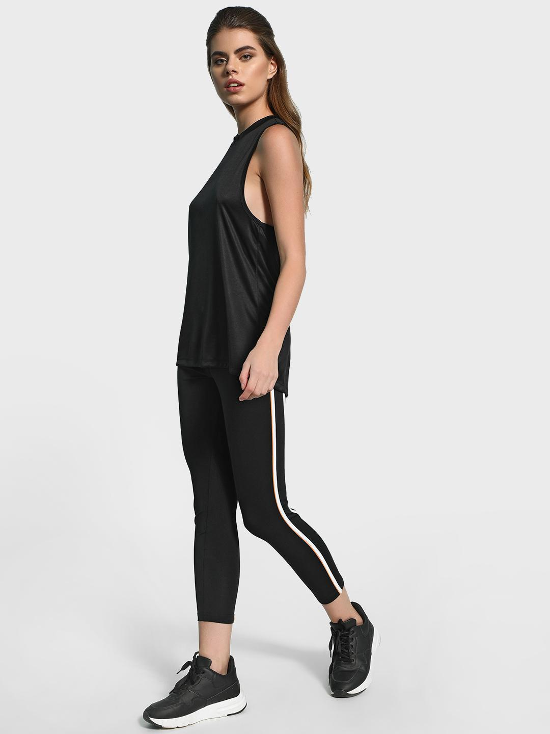 K ACTIVE Black KOOVS Contrast Side Panel Leggings 1
