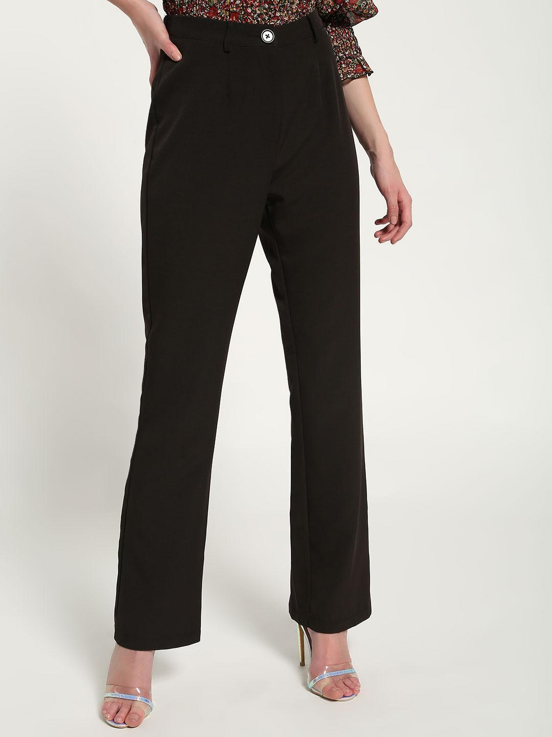 Missguided Black High-Waist Formal Trousers 1