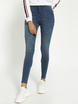 Blue Saint Mid-Wash High Waist Skinny Jeans