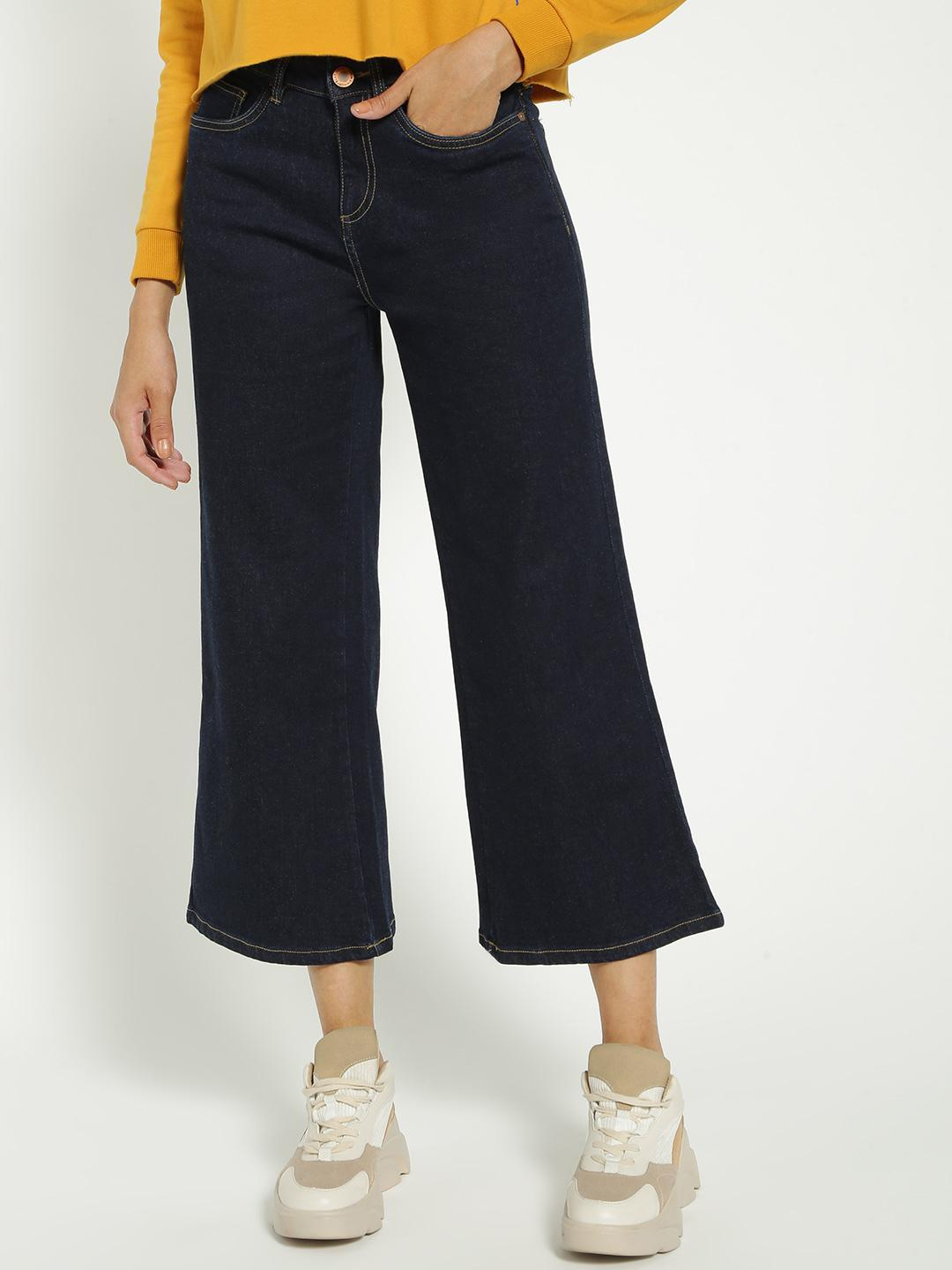 Blue Saint Blue Basic Cropped Flared Jeans 1
