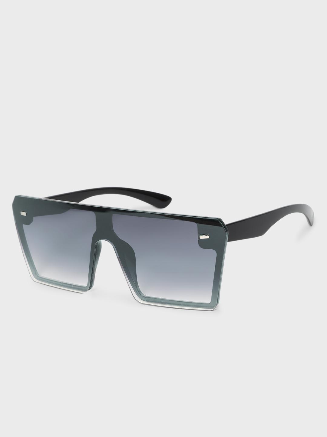 KOOVS Black Coloured Lens Square Sunglasses 1