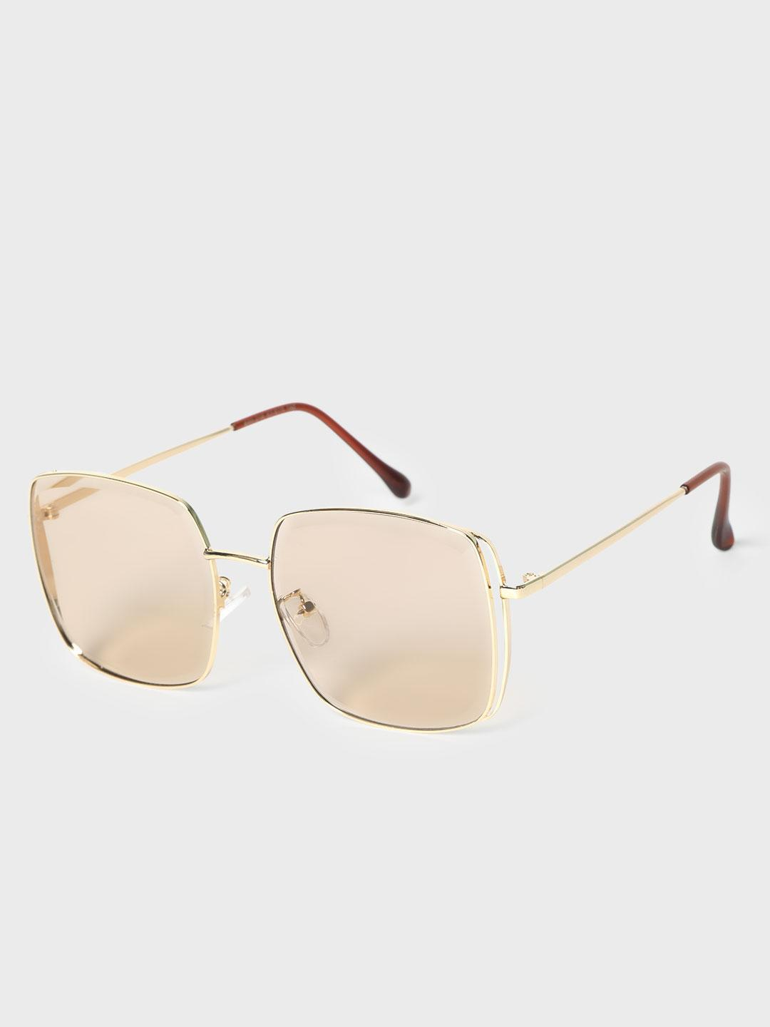 KOOVS Brown Tinted Square Sunglasses 1