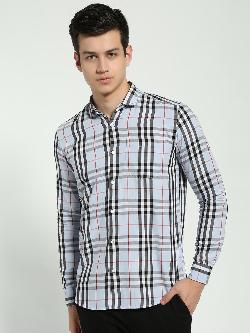 AMON Multi-Check Long Sleeve Shirt