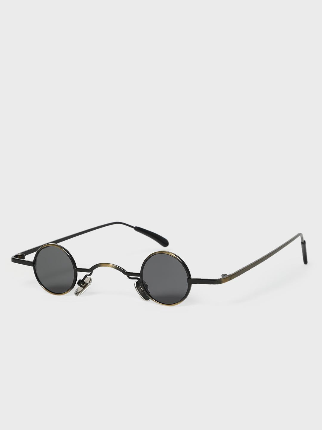 KOOVS Black Metal Bridge Tinted Retro Sunglasses 1