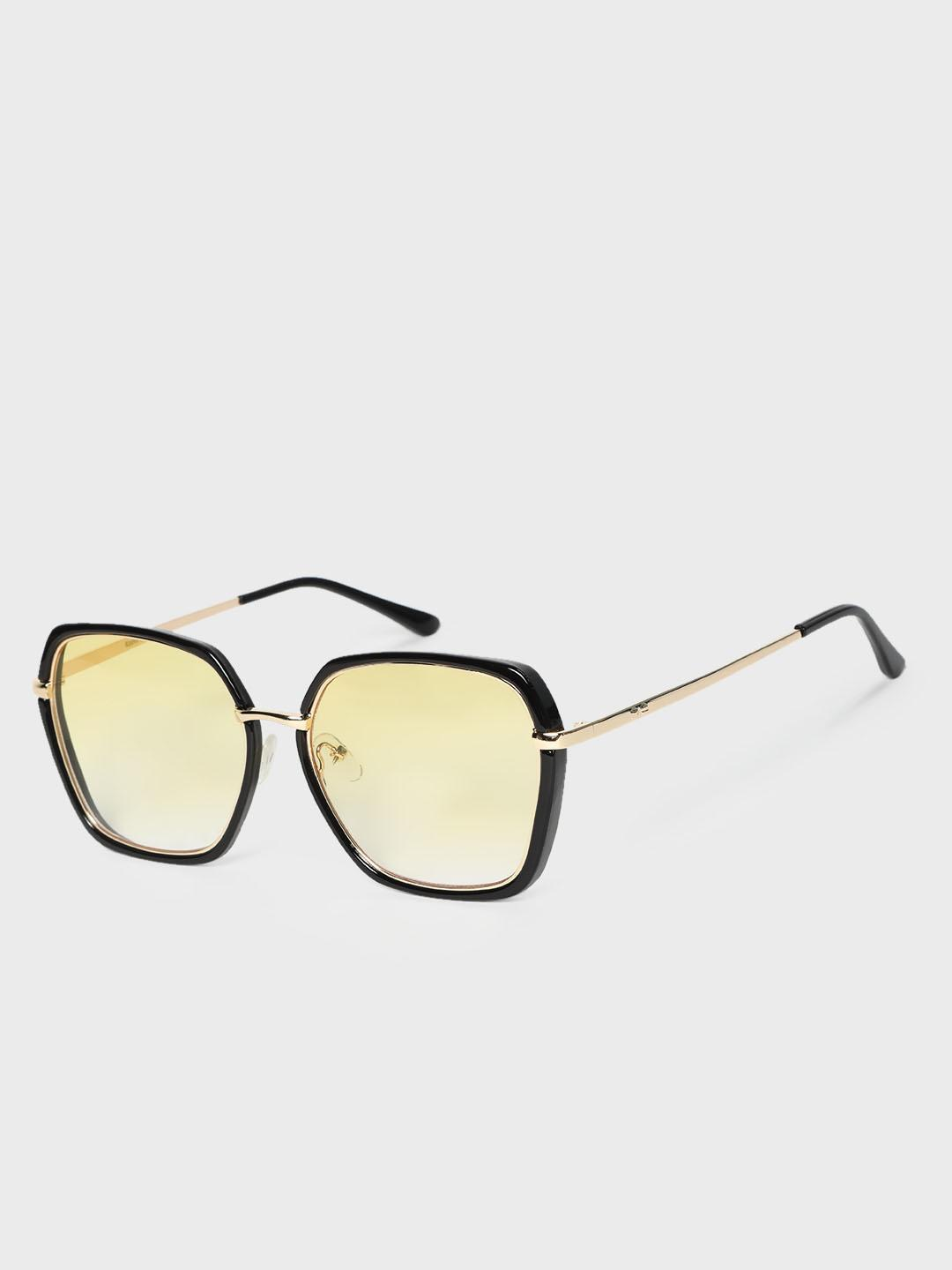 KOOVS Yellow Tinted Lens Square Sunglasses 1