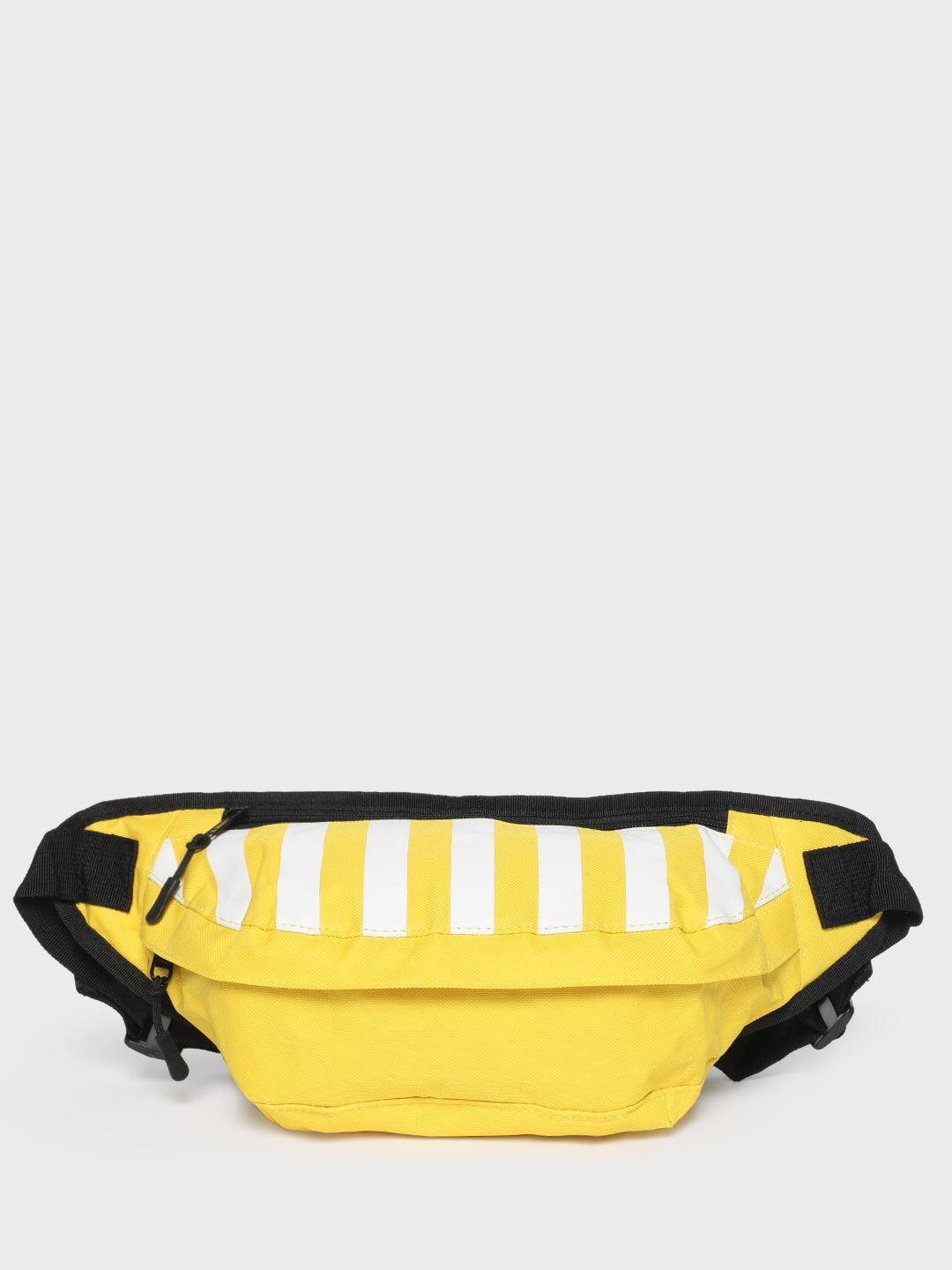 KOOVS Yellow Stripe Print Fanny Pack 1