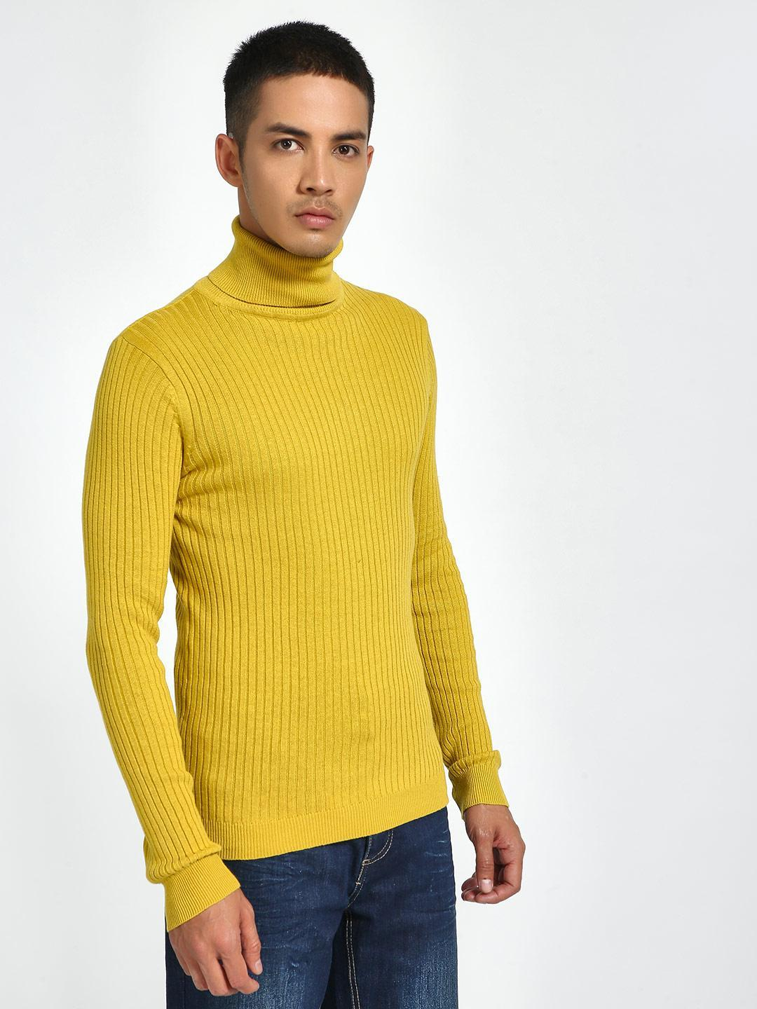 Brave Soul Yellow Turtleneck Knitted Pullover 1