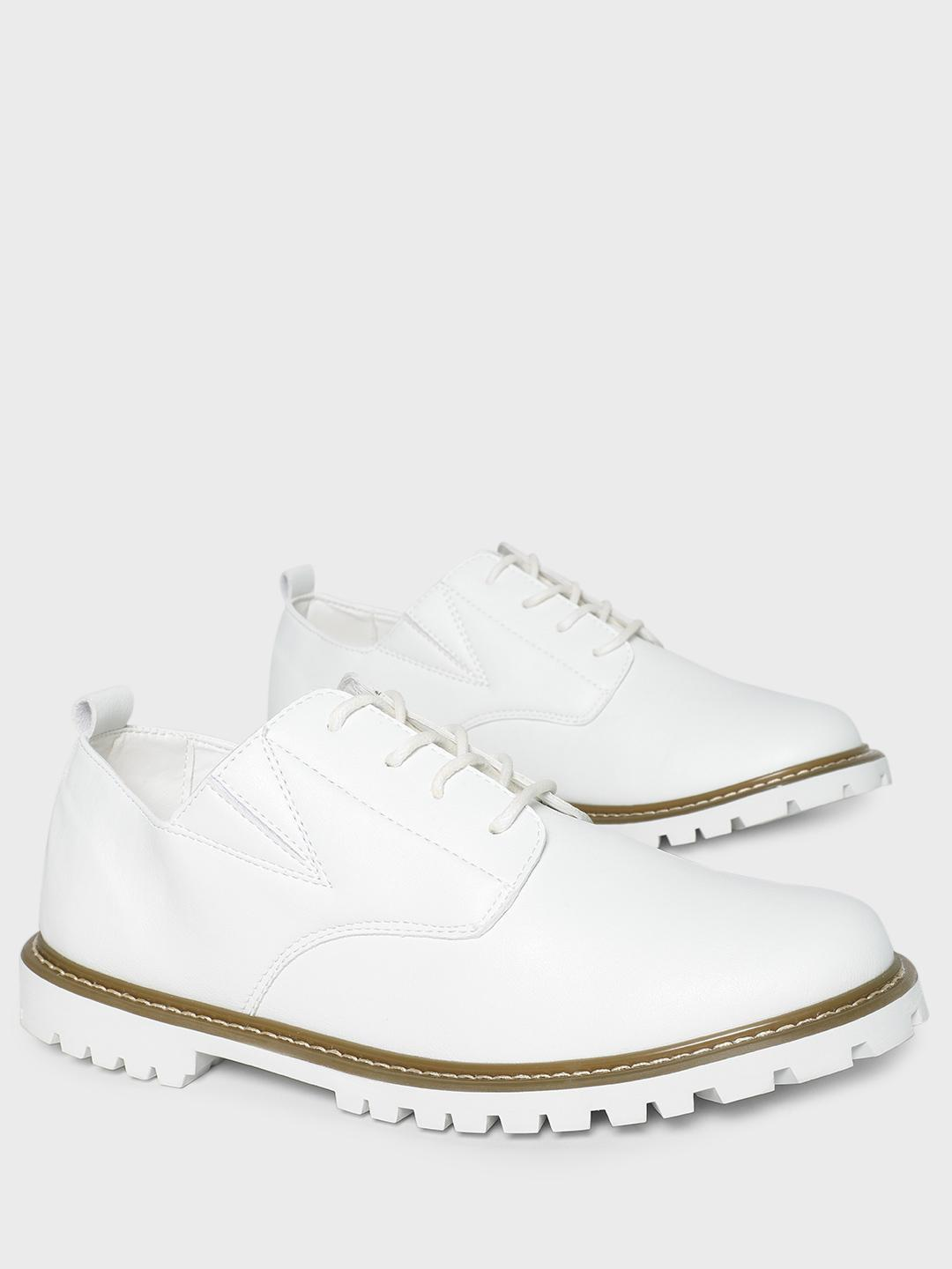 KOOVS White Cleated Sole Boots 1