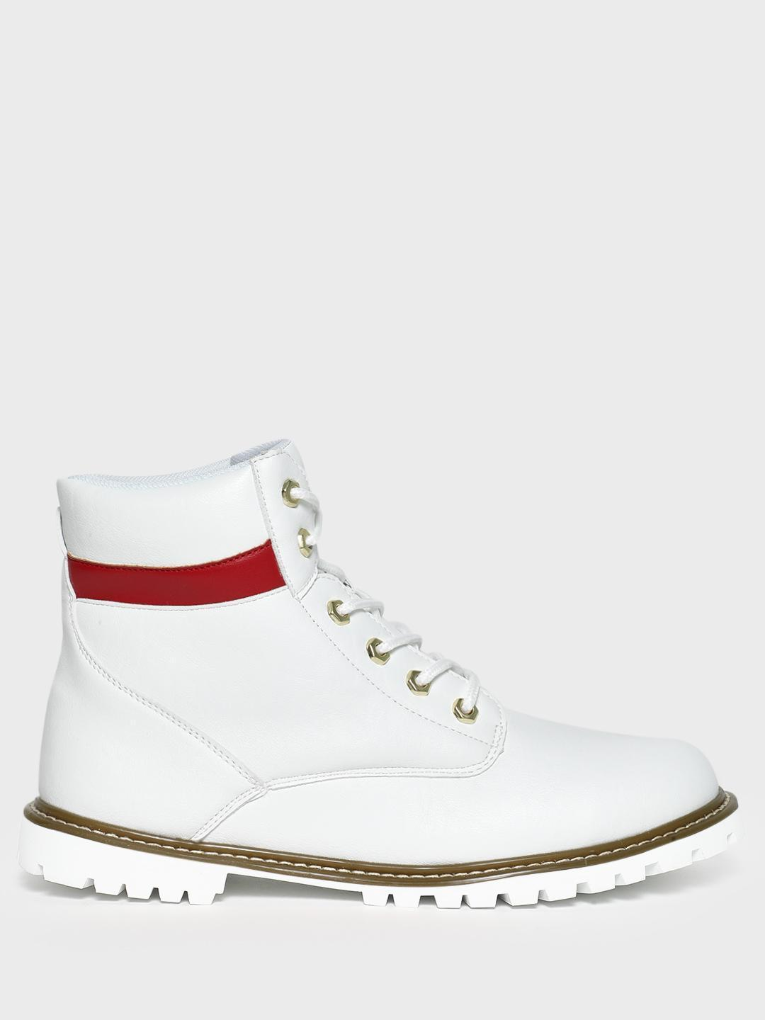 KOOVS White Cleated Sole Lace-Up Boots 1