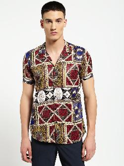 AMON Baroque Chain Print Cuban Shirt