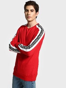 Garcon Slogan Side Tape Sweatshirt