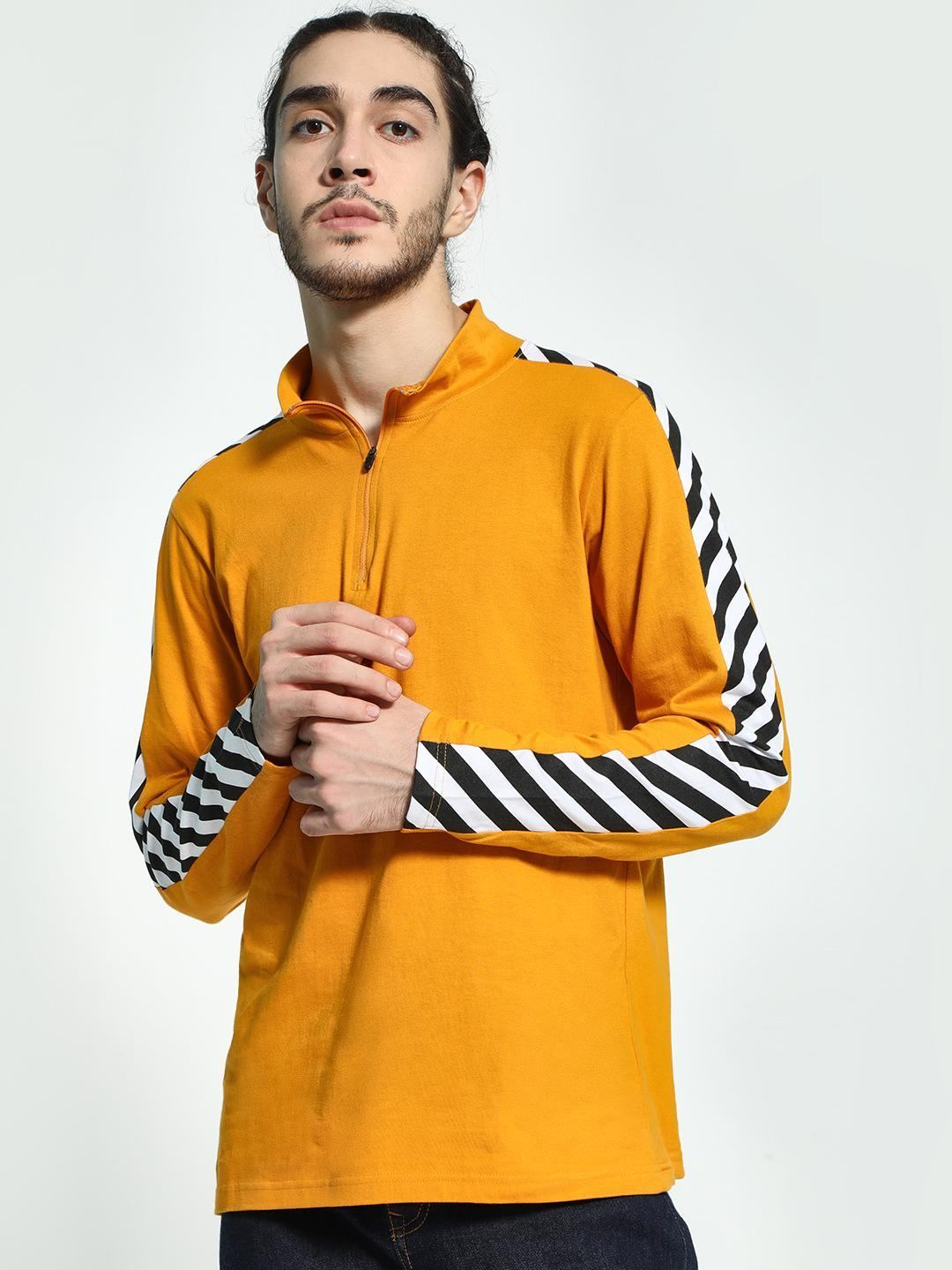 Garcon Yellow Track Shoulder Stripe T-Shirt 1
