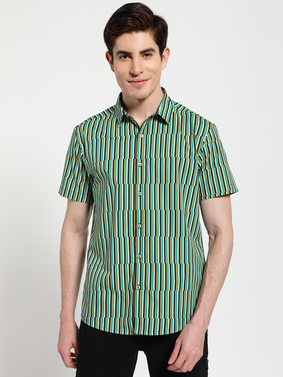 TRUE RUG Multi Broken Vertical Stripe Print Shirt 1
