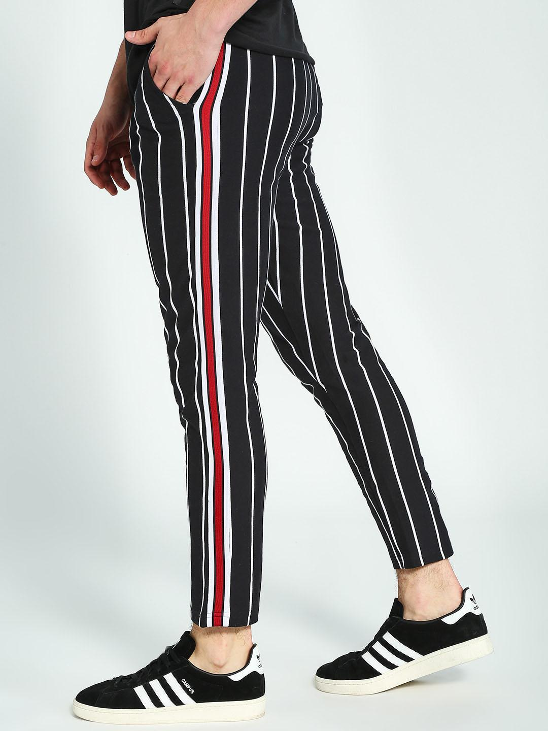 Garcon Multi Side Tape Yarn-Dyed Pinstripe Trousers 1