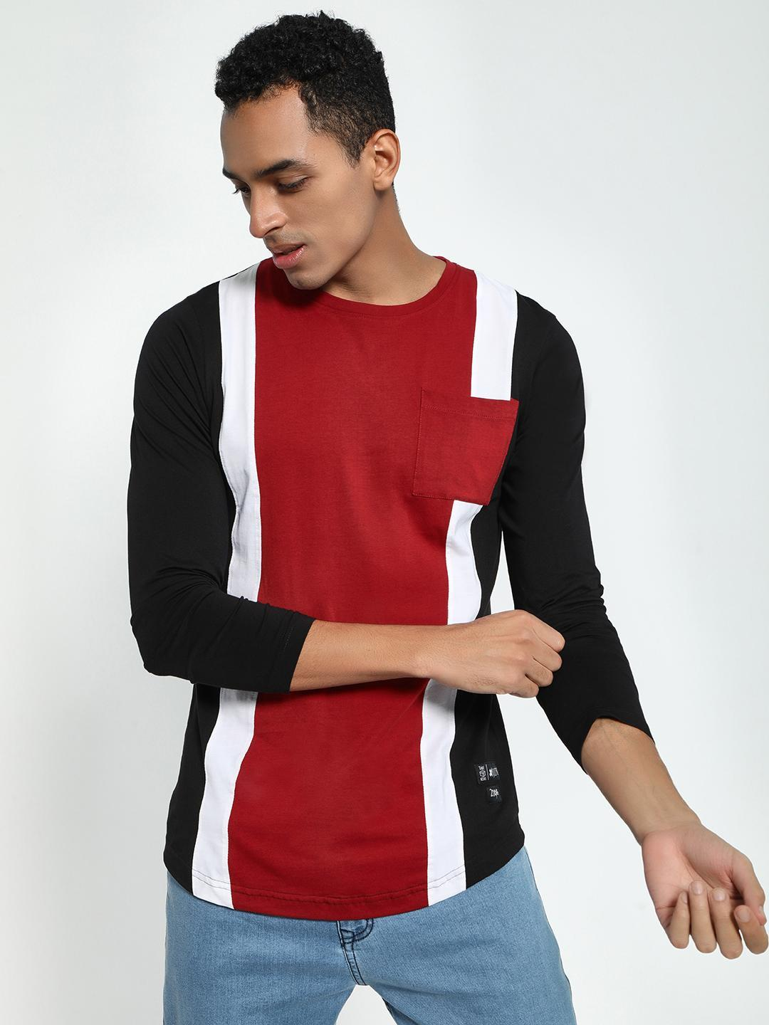 Kultprit Multi Colour Block Panel T-Shirt 1
