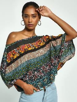 Ri-Dress Paisley Print Oversized Blouse