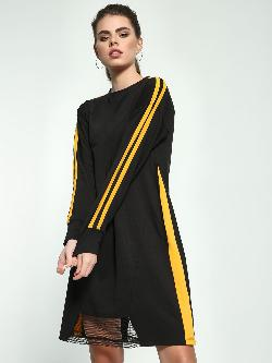 Beyond Clouds Side Stripe T-Shirt Dress
