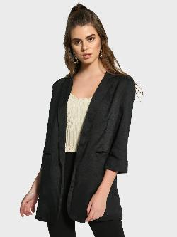 Missguided Rolled-Up Sleeve Boyfriend Blazer