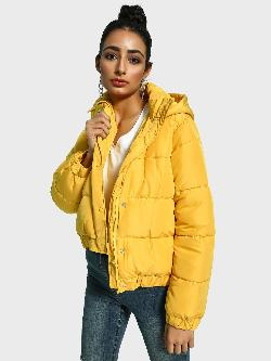 Missguided Hooded Neck Puffer Jacket